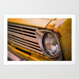 Retro Style Vintage Rusty Car Art Print