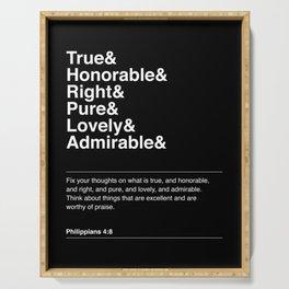 PHILIPPIANS 4:8 Serving Tray