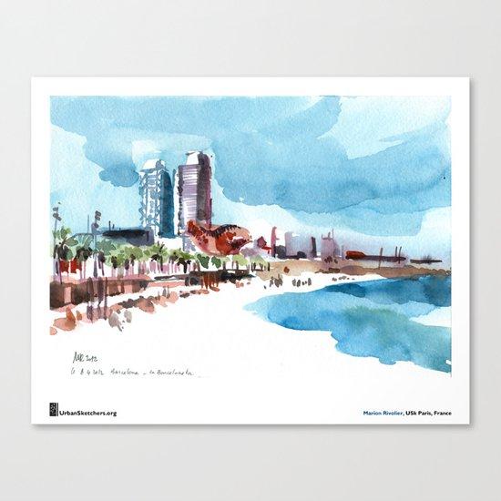 "Marion Rivolier, ""Barceloneta"" Canvas Print"
