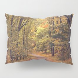 Empty New England Roads In Fall Pillow Sham