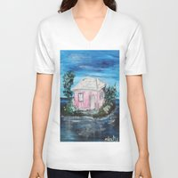 home sweet home V-neck T-shirts featuring home by sladja