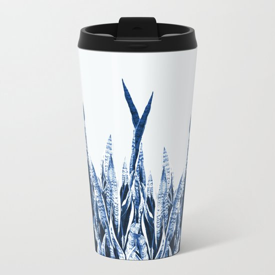 Blue Duotone Metal Travel Mug