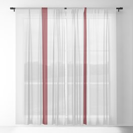vermilion line || white rabbit eye Sheer Curtain