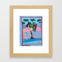 Flamingo Colors Framed Art Print