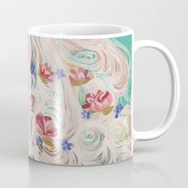 White Myosotis Coffee Mug