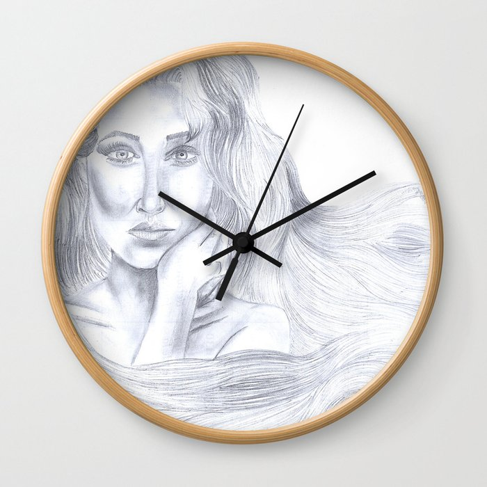 """Waving around"" Wall Clock"