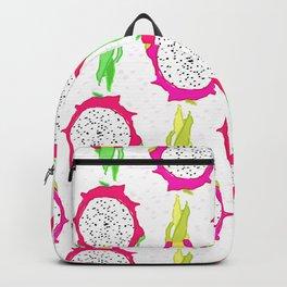 Dragonfruit Slices in Dotty White Backpack