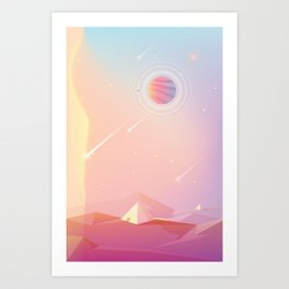 The Secret of Pyramids Art Print