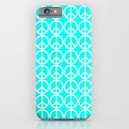 Peace Be With You Seafoam iPhone Case