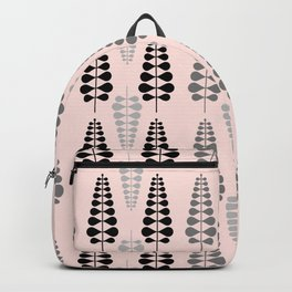 Pink Retro Floral Tree Pattern - Mix and Match with Simplicity of Life Backpack