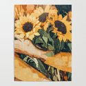 Holding Sunflowers #society6 #illustration #nature #painting by 83oranges