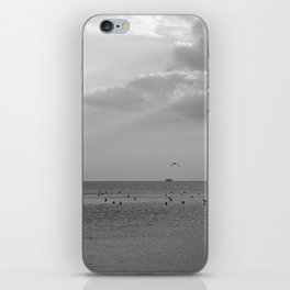 napoli gull b&w iPhone Skin