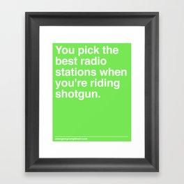 Best Radio Stations Framed Art Print