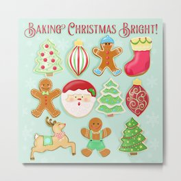Baking Christmas Bright Metal Print