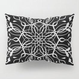 Floral Black and White Mandala Pillow Sham