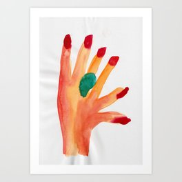On the Other Hand Art Print