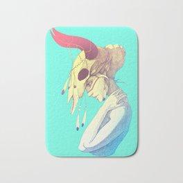 Woman & Skull Color Bath Mat