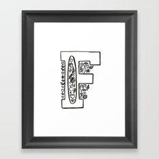 f is for Framed Art Print
