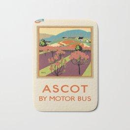 locandina ascot by motor bus. 1922 Bath Mat