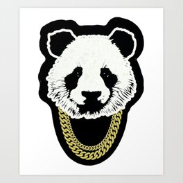 PANDA--CHAIN Art Print