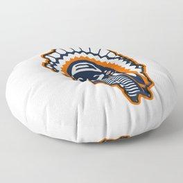 Fighting Illini Football Merch Floor Pillow