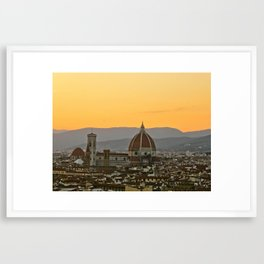 The Duomo. Florence, Italy Framed Art Print