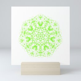 Magic Seven Mandala eden spirit green Mini Art Print