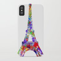 eiffel tower iPhone & iPod Cases featuring Eiffel Tower  by ron ashkenazi