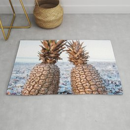 Gold Pineapples Rug