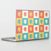 merlin Laptop & iPad Skins featuring Multicolor Pendragon, Merlin by carolam
