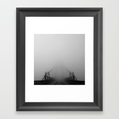 St Johns Bridge in Fog 1, Portland, Oregon Framed Art Print