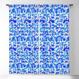 Exotic Garden - Blue Blackout Curtain