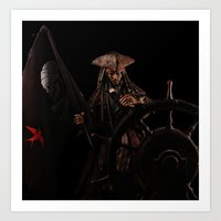 jack sparrow Art Prints featuring Jack Sparrow by if0nly
