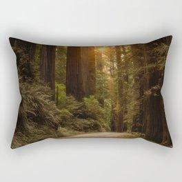 Sunrise in the Redwoods Rectangular Pillow