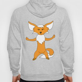 angry fox gift middle finger Hoody
