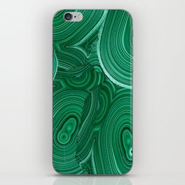 Green Malachite Nature Pattern Design Abstract iPhone Skin