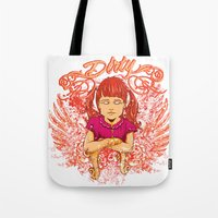 dirty dancing Tote Bags featuring Dirty by Tshirt-Factory