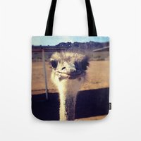 ostrich Tote Bags featuring OSTRICH by Kaitlin Bloom