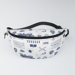 Railroad Symbols // Navy Blue Fanny Pack