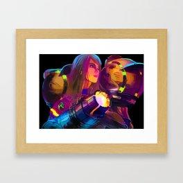 Samus-Metroid Framed Art Print