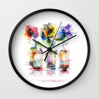 card Wall Clocks featuring card by tatiana-teni