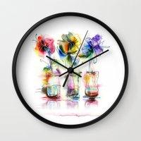 card Wall Clocks featuring card by tatiana-teni