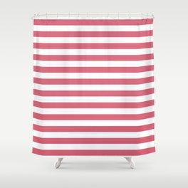 Large Nantucket Red Horizontal Sailor StripesLarge Nantucket Red Horizontal Sailor Stripes Shower Curtain