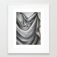 fabric Framed Art Prints featuring Fabric by Mandy Fargo