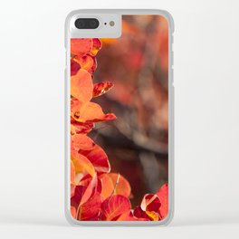 Red autumn Clear iPhone Case