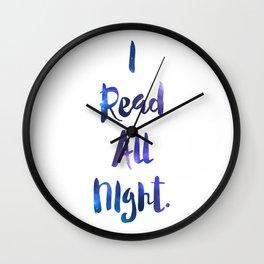 I Read All Night!  Wall Clock