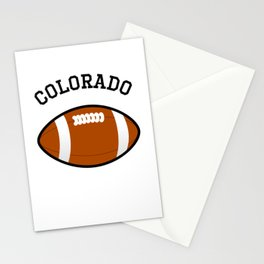 Colorado American Football Design black lettering Stationery Cards