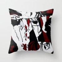 manga Throw Pillows featuring Grafitti Manga by Fine2art
