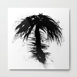 By The Palm Metal Print