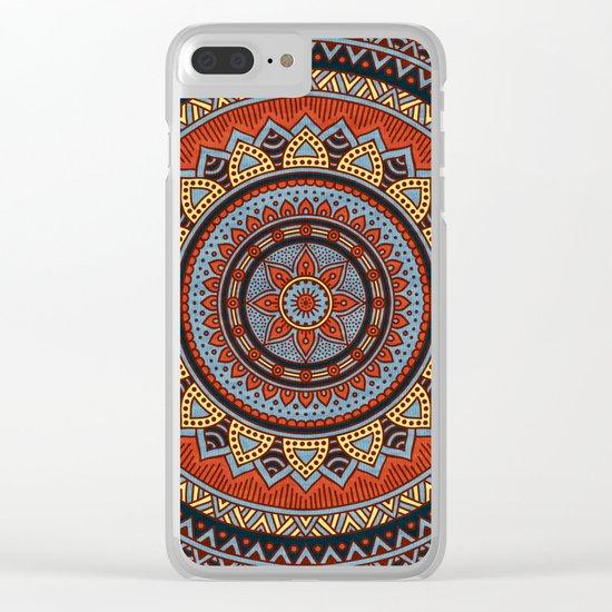 Hippie mandala 49 Clear iPhone Case